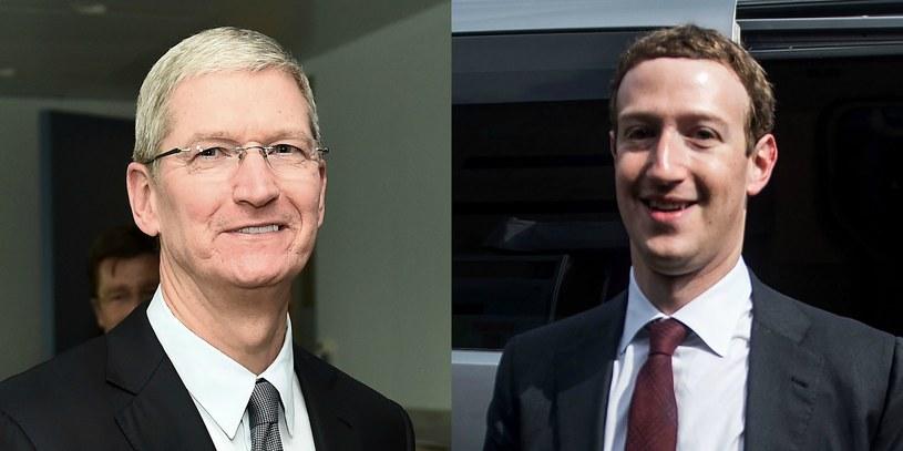 Tim Cook i Mark Zuckerberg /AFP