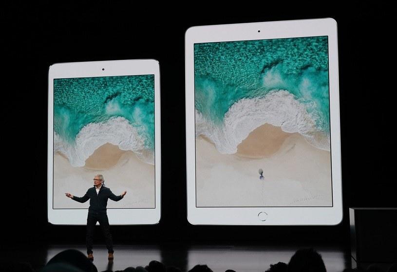 Tim Cook - szef Apple i poprzednia generacja iPada Pro /AFP