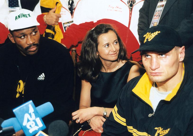Tim Witherspoon, Mariola Gołota, Andrzej Gołota, 1998 rok /Fidusiewicz /AKPA