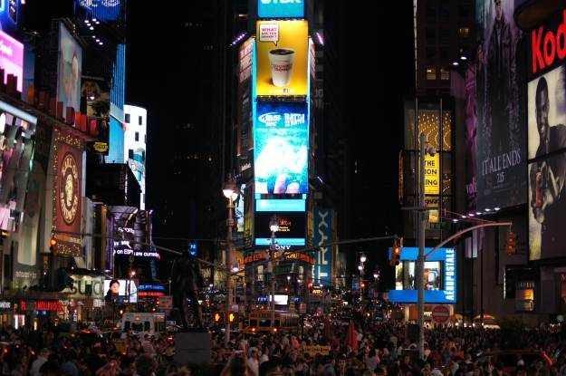 Times Square - zdjęcia nocne w wydaniu Alfa 55 wychodzą naprawdę dobrze /INTERIA.PL