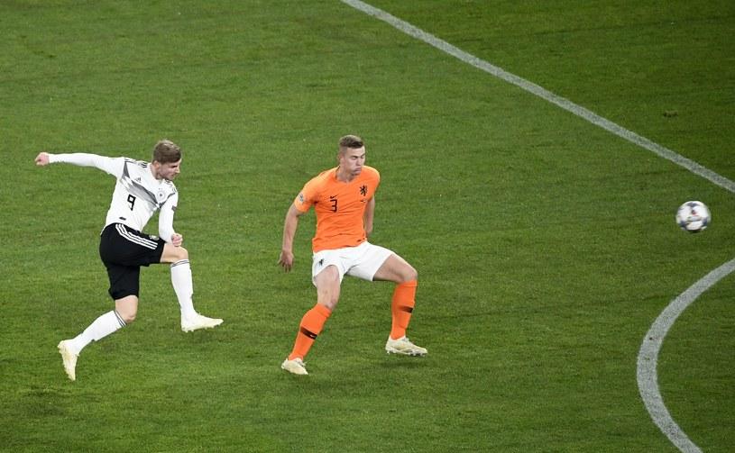 Timo Werner strzela gola na 1-0 /AFP