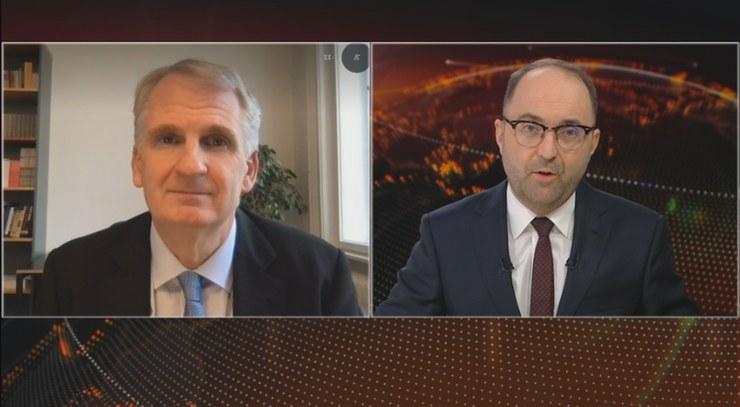 """Timothy Snyder w programie """"Dzień na Świecie"""" w Polsat News /Polsat News"""