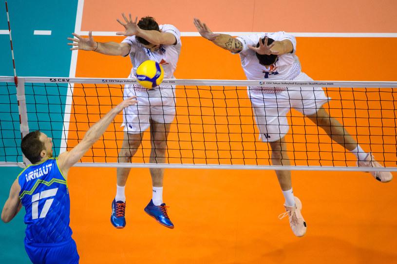 Tine Urnaut w meczu z Francją /www.cev.eu