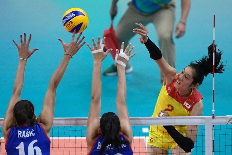 Ting Zhu nękała Serbki atakami z lewego skrzydła. /AFP