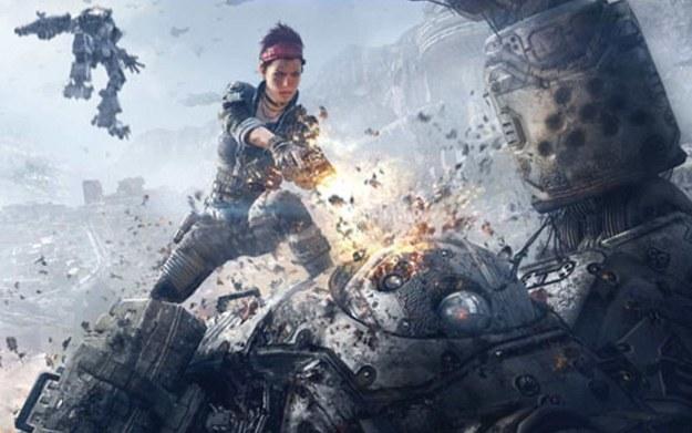 Titanfall - fragment okładki z nowego wydania magazynu Game Informer /materiały prasowe