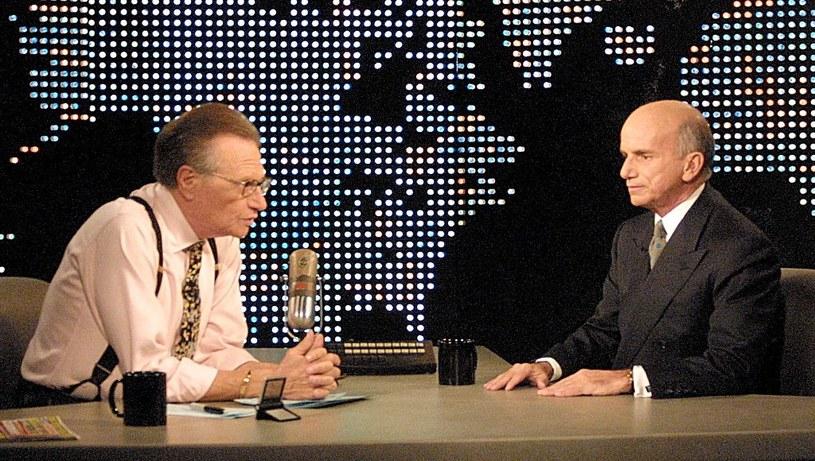Tito podczas rozmowy z Larrym Kingiem na antenie CNN, marzec 2001 /AFP