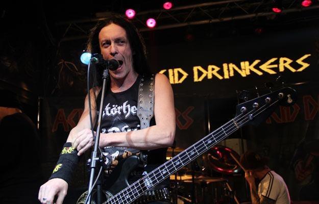Titus podczas koncertu Acid Drinkers w stalowowlskim klubie Labirynt /INTERIA.PL
