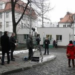 Tłum dziennikarzy przed procesem Katarzyny W.