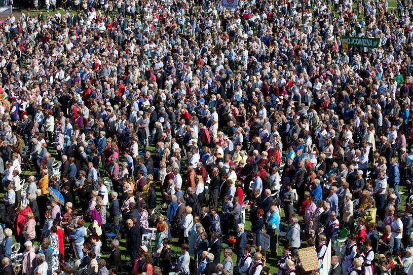Tłum podczas dożynek prezydenckich /Karol Porwich/East News /East News