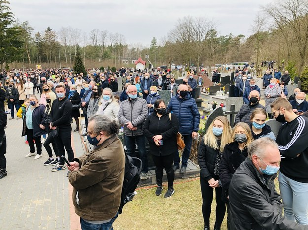Tłumy na pogrzebie Krzysztofa Krawczyka /Agnieszka Wyderka /RMF FM