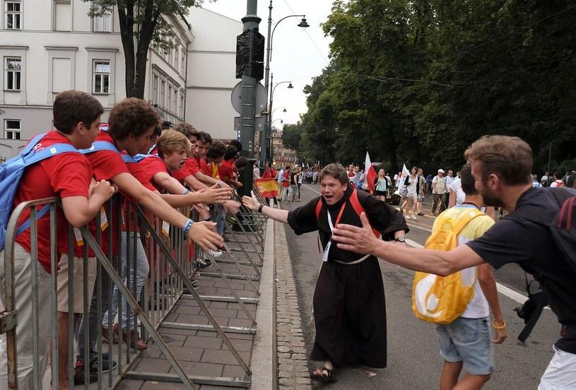 Tłumy pielgrzymów opanowały Kraków /Paweł Krawczyk /INTERIA.PL