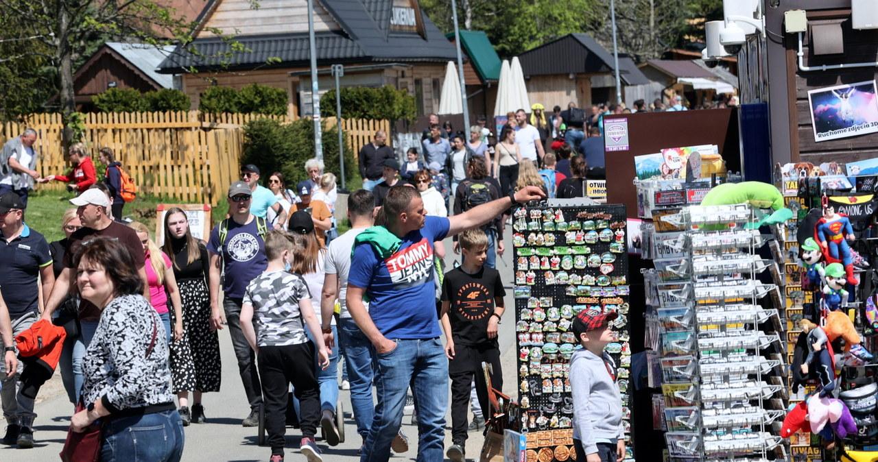 Tłumy turystów na Podhalu