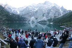 Tłumy turystów szturmowały Morskie Oko