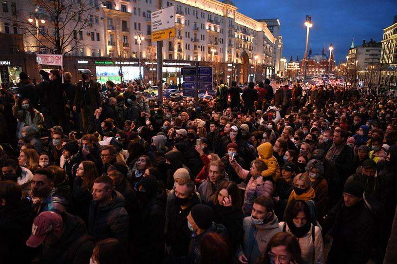 Tłumy wyszły na ulice Moskwy /NATALIA KOLESNIKOVA/AFP /AFP