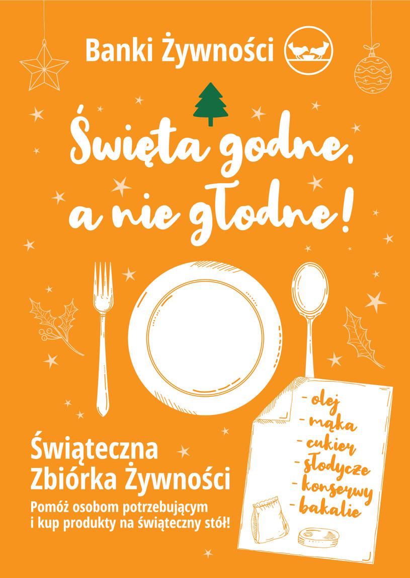 To będzie pierwsza świąteczna zbiórka żywności bez wolontariuszy /materiały prasowe