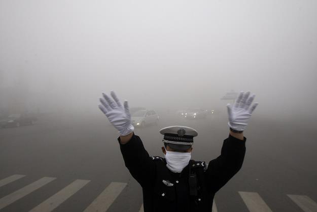To codzienność wielu chińskich miast /AFP