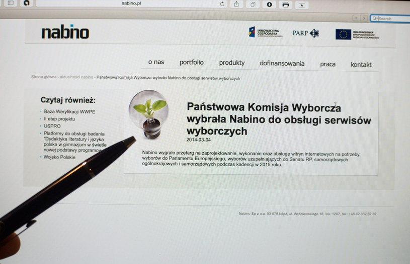 To firma Nabino odpowiada za stworzenie systemu /Grzegorz Michałowski /PAP