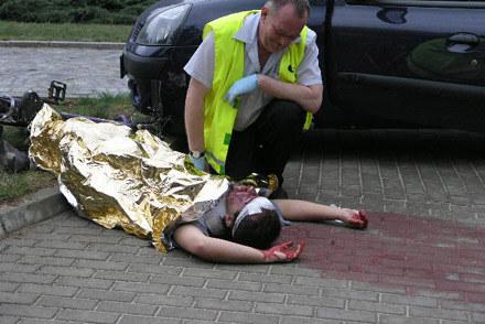 To inscenizacja. Zdjęcie zrobione podczas pokazu działania służb ratowniczych /INTERIA.PL