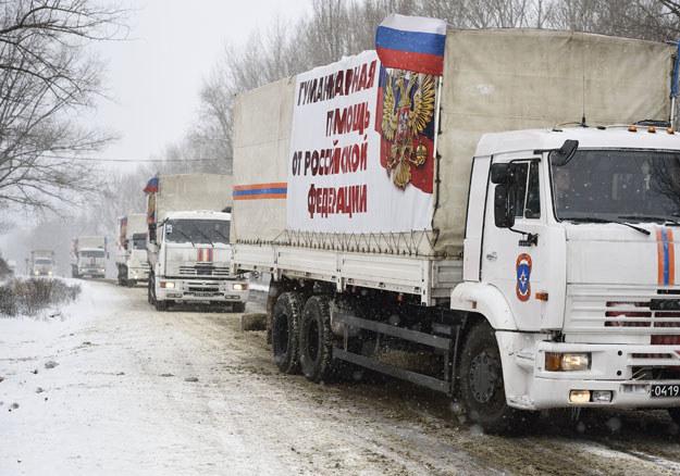 """To już czternasty rosyjski """"biały konwój"""" fot. Eric Feferberg /AFP"""