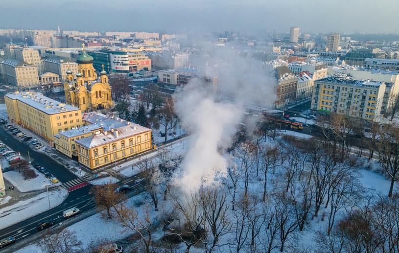 To już kolejna tego typu awaria w stolicy w ciągu ostatnich dni /Tomasz Jastrzebowski/ /Reporter