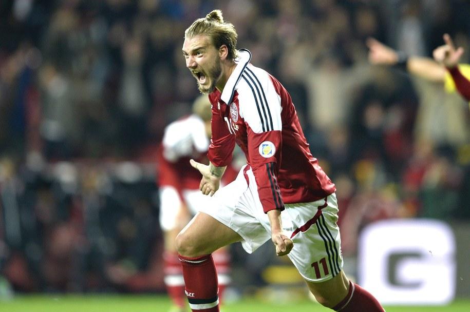 To nie pierwszy występek duńskiego piłkarza /LISELOTTE SABROE    /PAP/EPA