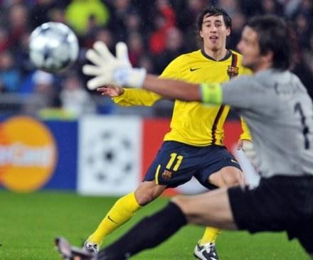 To obrazek z poprzedniego meczu Barcy z Basel /AFP