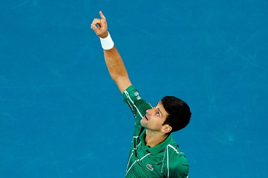 To ósma wygrana Novaka Djokovica w Melbourne /DAVE HUNT /PAP/EPA