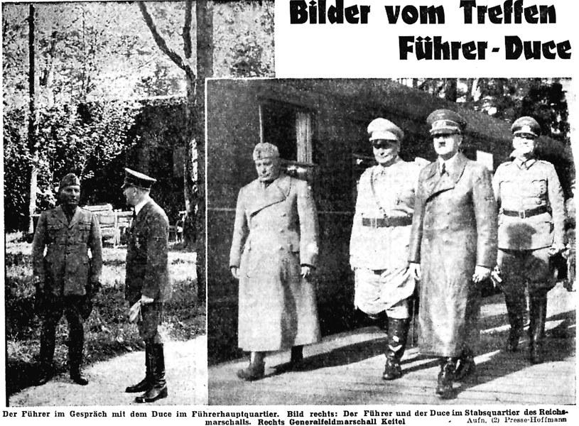 """To pierwsze zdjęcia Hitlera po chorobie z sierpnia 1941 roku, gdy w """"Wilczym Szańcu"""" gościł on Benito Mussoliniego /Odkrywca"""
