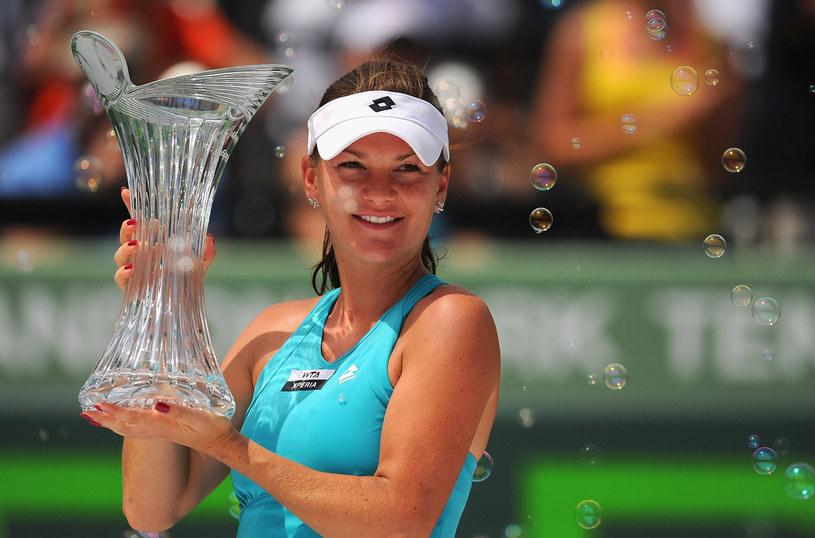 To trofeum Agnieszka Radwańska zdobyła w marcu 2012 roku po pokonaniu Marii Szarapowej w finale turnieju WTA w Key Biscayne. /AFP