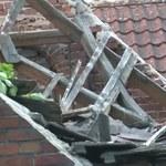 """""""To wyglądało bardzo niepokojąco"""". Runął dach budynku w centrum Zielonej Góry"""