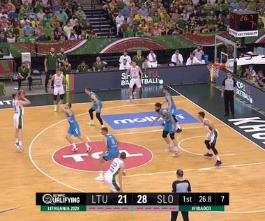 Tokio 2020. Koszykarze Słowenii po wygranej z Litwą 96:85 jadą na igrzyska. Wideo