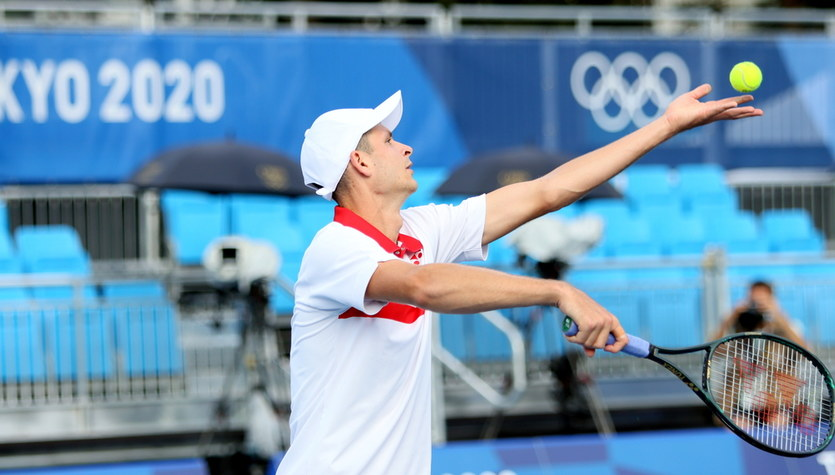 Tokio 2020. Liam Broady - Hubert Hurkacz w meczu II rundy