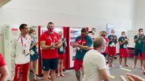 Tokio 2020. Wojciech Nowicki, Paweł Fajdek, Patryk Dobek, przywitani w wiosce olimpijskiej. Wideo