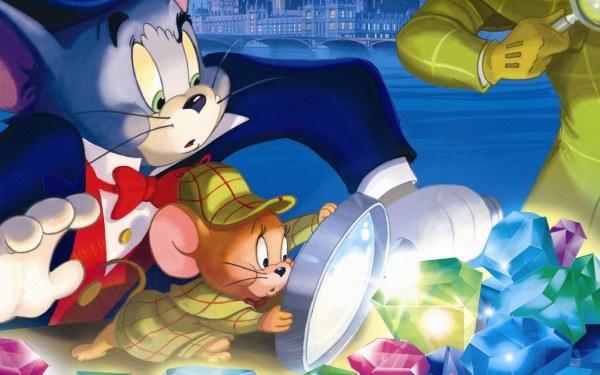 Tom & Jerry i Sherlock Holmes - fragment okładki z filmu /Informacja prasowa