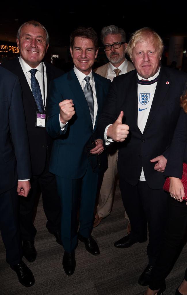 Tom Cruise i Boris Johnson /Eamonn McCormack /Getty Images