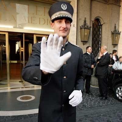 Tom Cruise przyleciałdo Rzymu, ale mało kto go  jeszcze widział /AFP