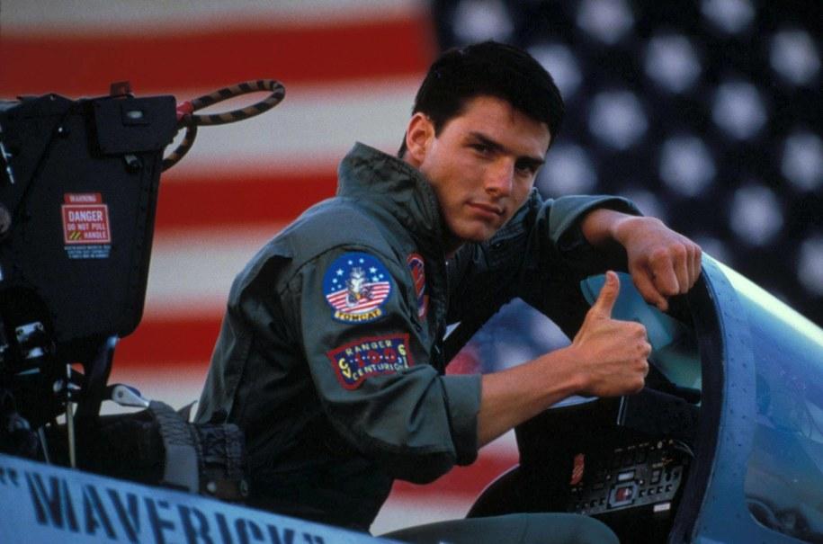 "Tom Cruise w kultowym filmie lat 80. - ""Top gun"" /Photoshot    /PAP/EPA"