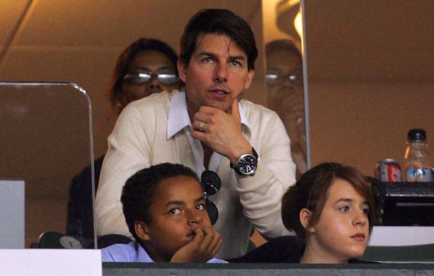 Tom Cruise z adoptowanymi dziećmi, Isabellą i Connorem, fot. Victor Decolongon  /Getty Images/Flash Press Media