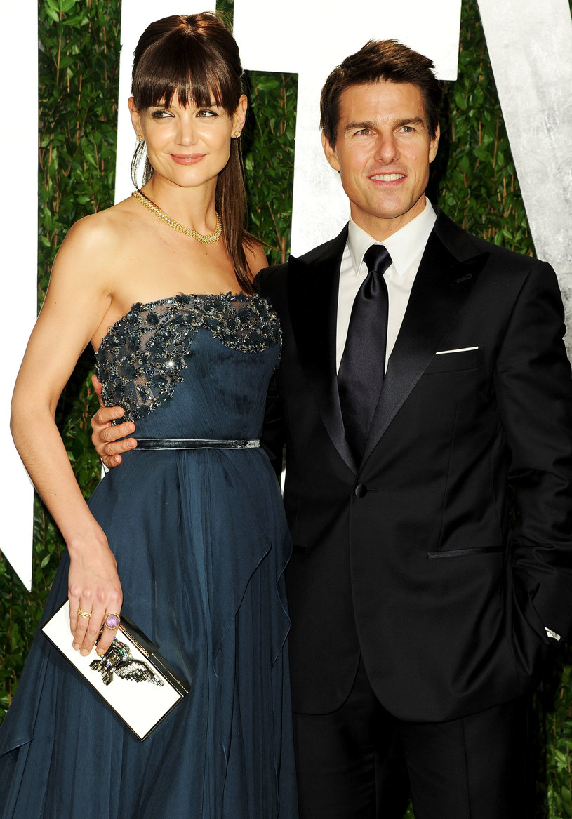 Tom Cruise z byłą żoną Katie Holmes /Pascal Le Segretain /Getty Images