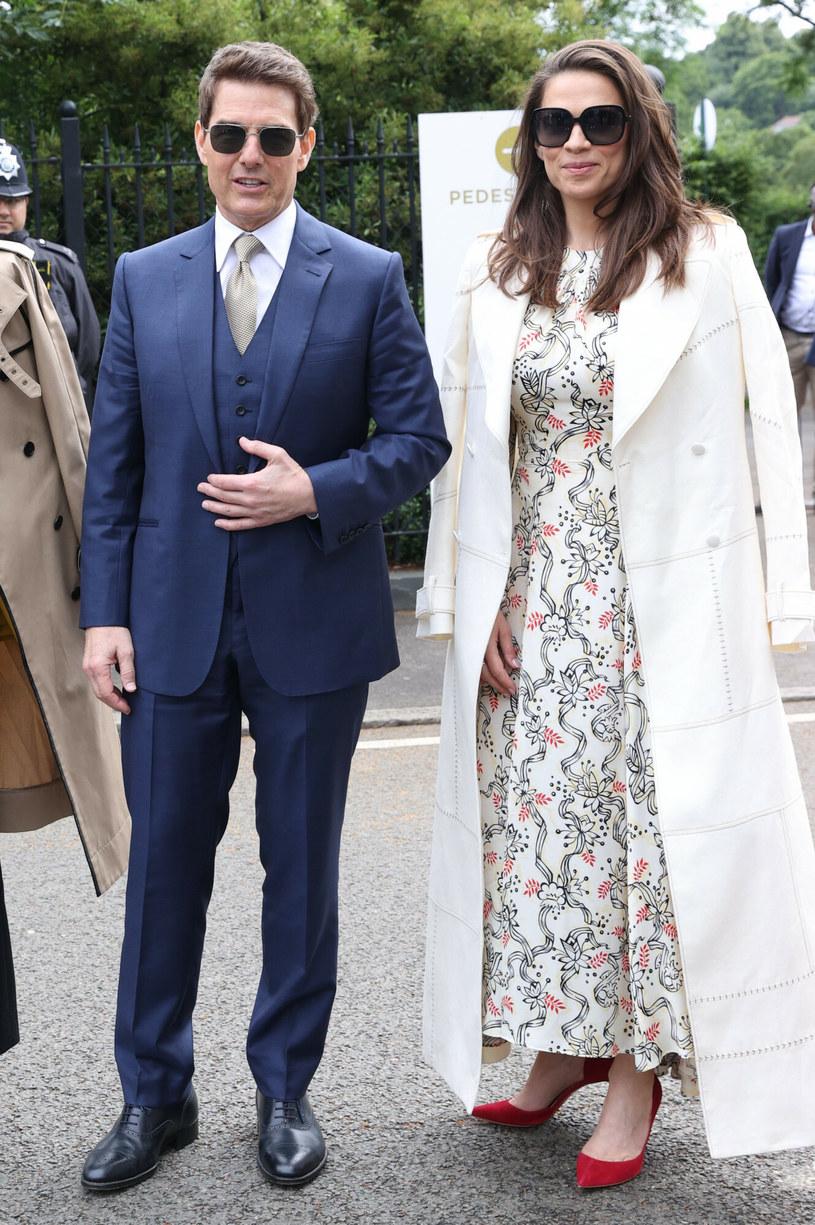 Tom Cruise z nową partnerką na Wimbledonie /Stephen Lock / i-Images / eyevine /East News