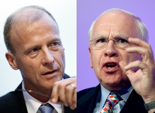 Tom Enders (L), szef EADS i Richard Oliver (P), prezes BAE /AFP