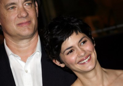 Tom Hanks i Audrey Tautou na festiwalu w Cannes /AFP