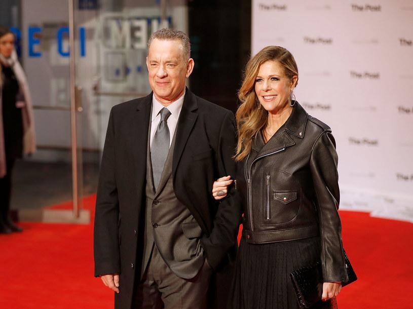 Tom Hanks z żoną /Tristan Fewings /Getty Images