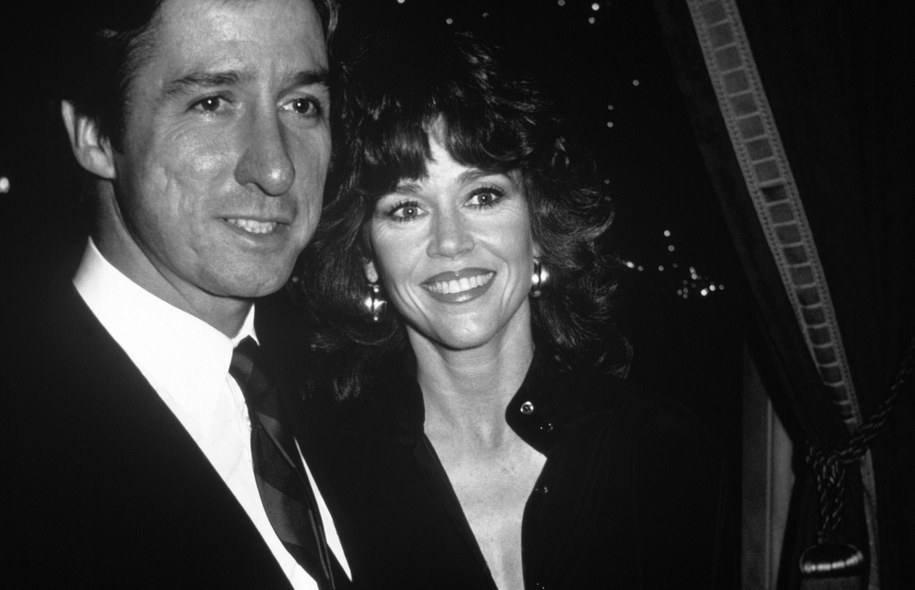 Tom Hayden i Jane Fonda w 1980 roku /91040 /PAP/EPA