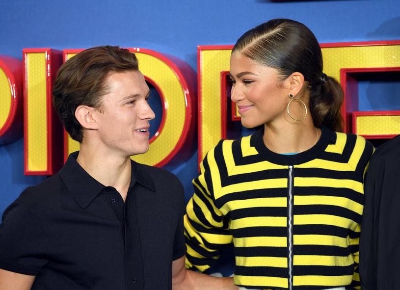 """Tom Holland i Zendaya na pokazie filmu """"Spider-Man: Homecoming"""" w Londynie (2017) /Karwai Tang/WireImage /Getty Images"""