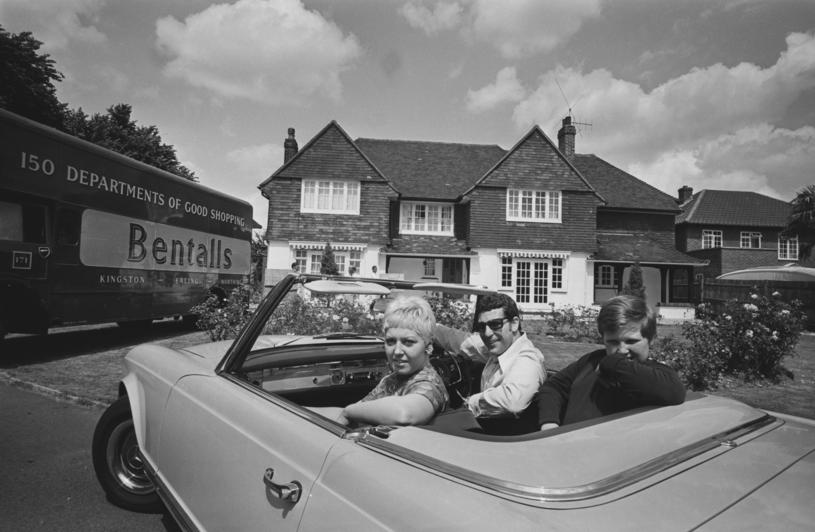 Tom Jones z żoną Melindą i synem Markiem, fot. Len Trievnor/Express/Hulton Archive /Getty Images