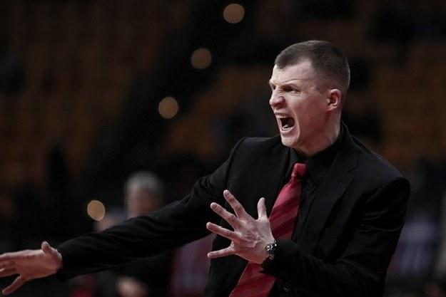 Tomas Pacesas, trener Asseco Prokomu Gdynia /AFP