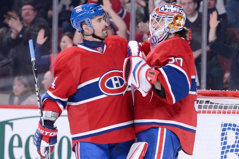 Tomas Plekanec (z lewej) i Peter Budaj z Montreal Canadiens /AFP
