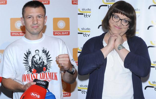 Tomasz Adamek i Anna Grodzka /Andras Szilagyi, Jarosław Antoniak /MWMedia