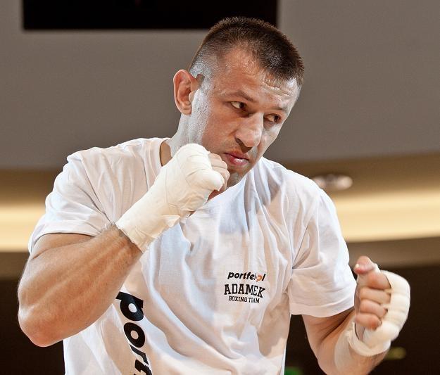 Tomasz Adamek jest gotowy na walkę z Kliczką. Fot. Maciej Kulczyński /PAP